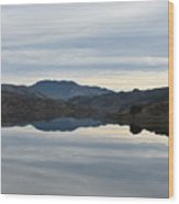 Reservoir Reflection Wood Print