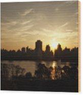Reservoir Sunrise Wood Print
