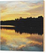 Reservoir Sunset 1 Wood Print