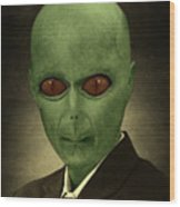 Resident Professor Of Interplanetary Research Area 51 Wood Print