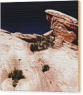 Resistant Boulder Valley Of Fire Wood Print