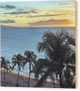 Resort Sunset Wood Print