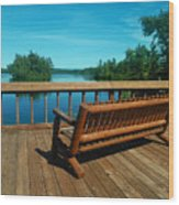 Rest A While Wood Print