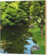 Rest By The Pond Wood Print