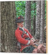 Rest From The March Royal Highlander Wood Print
