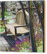Rest In The Garden Wood Print