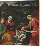 Rest On The Flight Into Egypt Wood Print