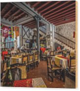 Restaurant Wood Print