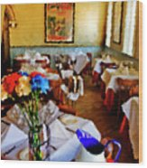 Restaurant In Red Bank 2 Wood Print