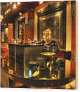 Restaurant Interior 1 Wood Print