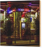 Restaurant Jeanne D'arc Wood Print