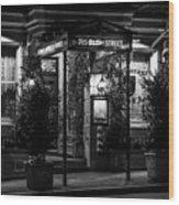 Restaurant Jeanne D'arc Bw Wood Print