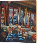 Restaurant On Columbus Wood Print