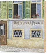 Restaurant Pfauen Wood Print by Scott Nelson