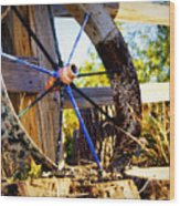 Resting And Rusting Wood Print