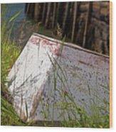 Resting Rowboat Wood Print