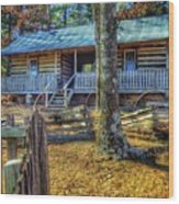 Restored Log Cabin Wood Print