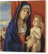 Restored Old Master Madonna And Child  Wood Print