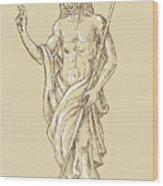Resurrected Jesus Christ Wood Print by Aloysius Patrimonio
