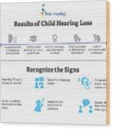 Resutls Of Child Hearing Loss Wood Print