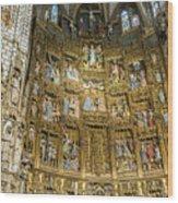 Retable - Toledo Cathedral - Toledo Spain Wood Print