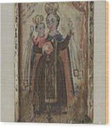 Retablo (our Lady Of Carmel) Wood Print