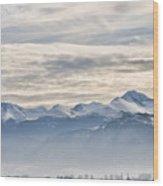 Retezat Mountains Wood Print