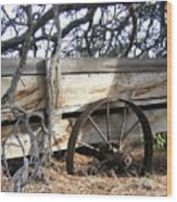 Retired Farm Wagon Wood Print