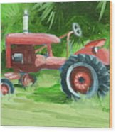 Retired Farmall Wood Print
