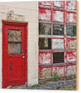 Retired Garage Wood Print