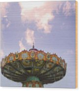Retired Ride In The Sky Or Ufo Wood Print