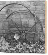 Retired Wheel Wood Print