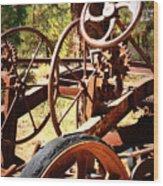 Retired Wheels Wood Print
