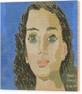 Retrato De Mi Hija M. Jose Wood Print