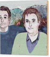 Retrato Mis Hijos Andres - Alejandro Wood Print