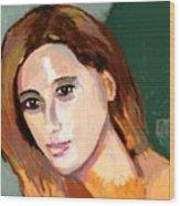 Retrato Patricia Wood Print