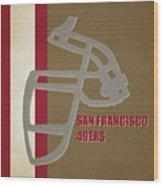 Retro 49ers Art Wood Print