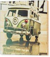 Retro 60s Toy Van Wood Print