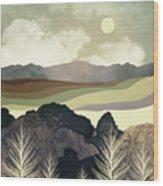 Retro Afternoon Wood Print