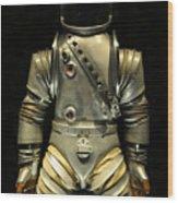 Retro Astronaut Wood Print