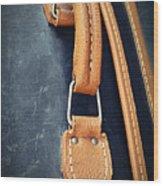 Retro Background Old Suitcase Handle Wood Print