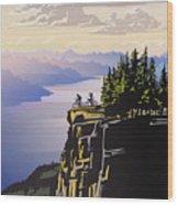 Retro Beautiful BC Travel poster Wood Print