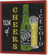 Retro Beer Sign-jp2915 Wood Print