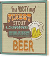 Retro Beer Sign-jp2917 Wood Print