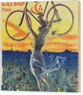 Retro Bicycle Ad 1898 Wood Print