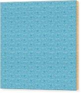 Retro Blue Pattern Wood Print