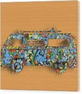 Retro Camper Van 2 Wood Print