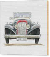 Retro Car Wood Print