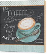 Retro Coffee 1 Wood Print