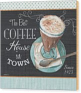 Retro Coffee 2 Wood Print